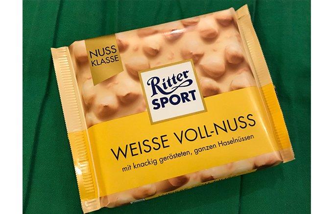 夏でも食べたい♪リッタースポーツ ヘーゼルナッツホワイトチョコ