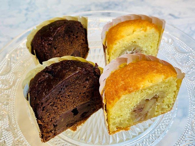 焼菓子のクラッシック、ブールミッシュの「トリュフケーキ」と「ガトー・オ・マロン」