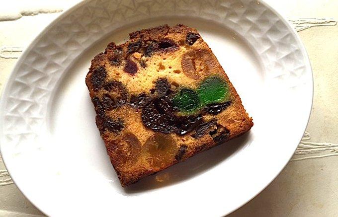 日本で初めて洋菓子店を開いたフランス人、ルコントさんのお店のフルーツケーキ