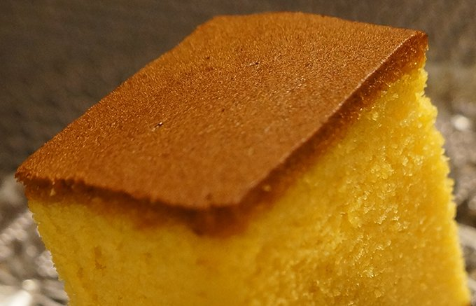 神奈川県限定!横浜文明堂の黄金の「極上 金かすてら」。