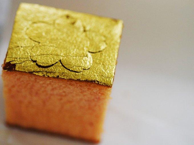 金沢から届く、季節を感じる遊びが心あふれた「金箔カステラ」