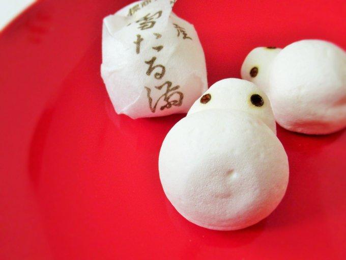 真っ白で愛らしい!サクッと雪のような口どけのメレンゲ菓子 奈良屋本店「雪たる満」