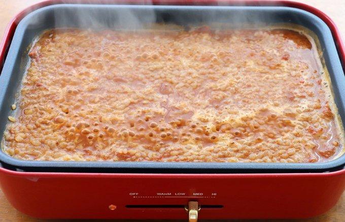 たった7分で完成!濃厚海老スープの早炊きパエリア