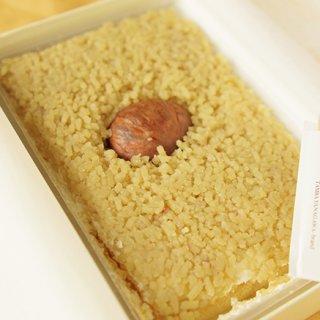 日の丸弁当みたいな和栗のモンブラン!!
