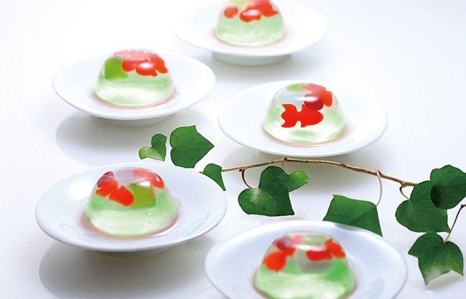 """夏の贈り物はコレに決まり!""""涼""""が美味しい。金魚が遊ぶ和風ぜりぃ"""