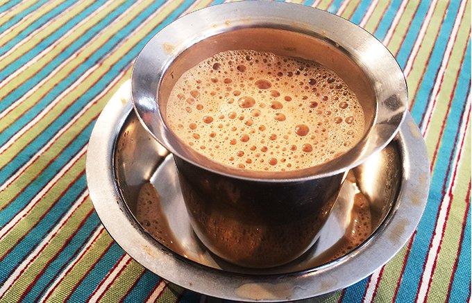本格的な泡立ちコーヒーが作れる「南インドのコーヒー」