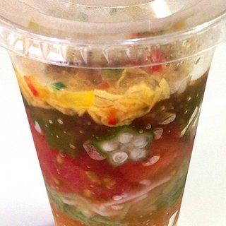 ジャーサラダを思わせる京都下鴨茶寮の「夏野菜と魚そうめん」
