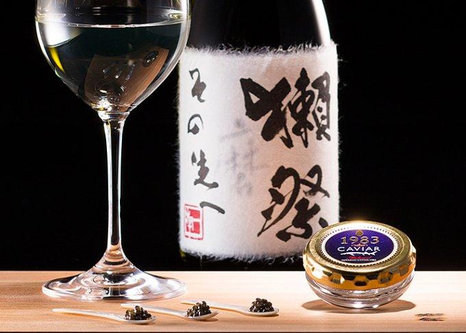 激レア!2015年お正月限定。獺祭×宮崎県産本格熟成キャビア