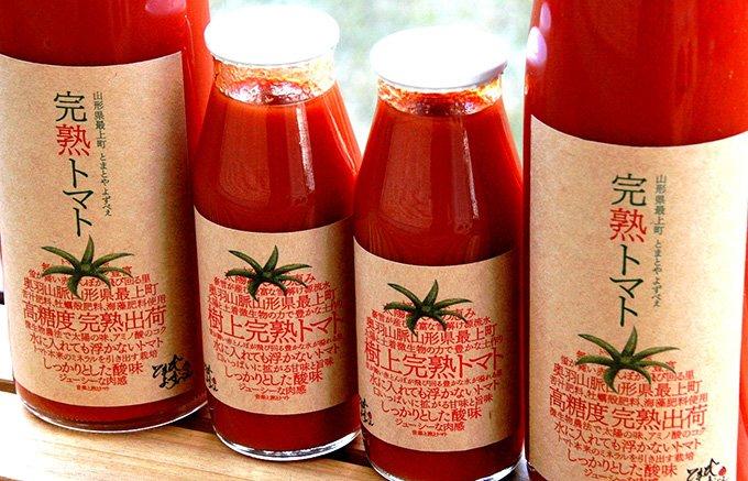 豪雪地帯が生んだ、樹上完熟トマトを使用した山形最上町のトマトジュース
