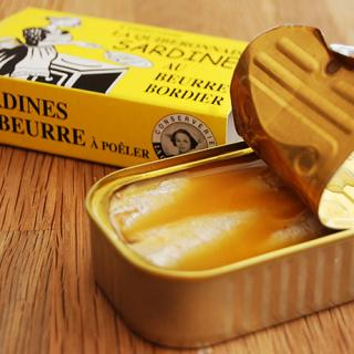 ブルターニュのおいしいバターを使ったイワシのボルディエバター漬け