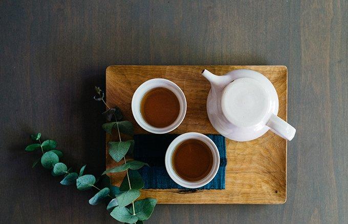 20種もの素材が配合されたお茶は、カフェインレスで飲みやすく、爽やかな仕上がり