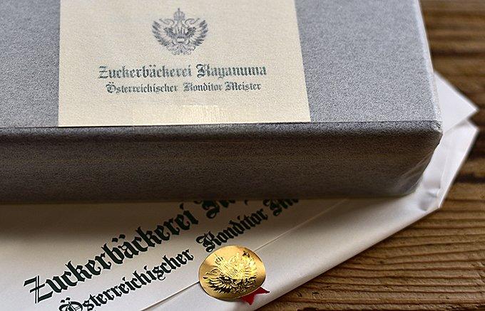 オーストリアから功労賞を授与された、コンディトールマイスターのクッキー