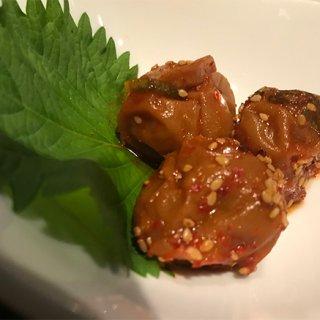 京都に本店をかまえる焼肉の名門「天壇」の紀州南高梅を使用した「梅干しキムチ」