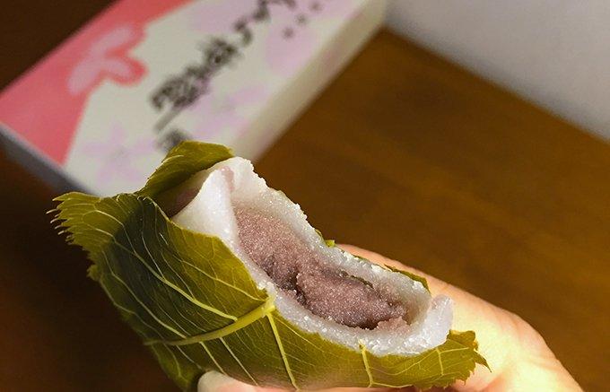 桜の葉が主役!日本で最も美しい村のさくら葉餅