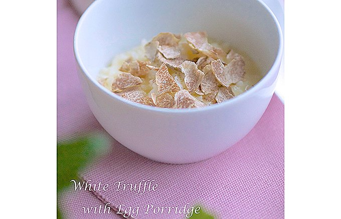 シンプルで美味しい!ロンドンのレシピ トリュフ塩の鶏たまご雑炊