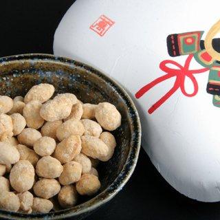 手描き絵柄も美しき、まめや金澤萬久の「有機大豆の炒り豆」