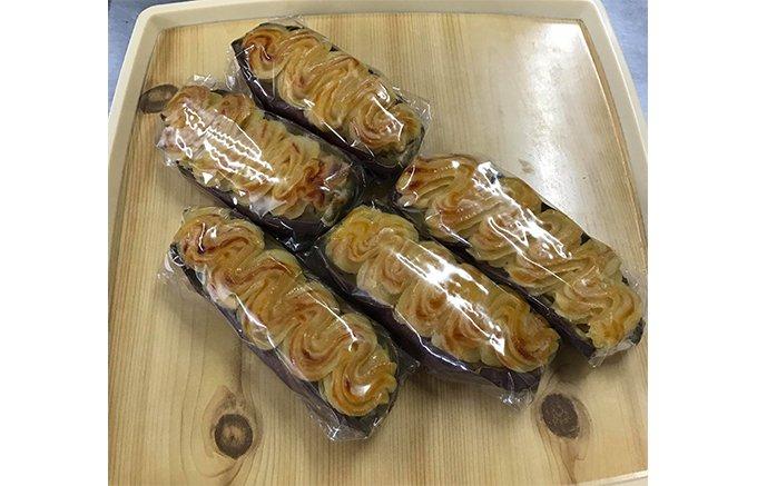 香西農園のサツマイモを使い、それ自体をくり抜いて作られる画期的なスイートポテト
