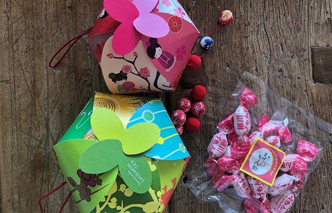 女性ウケすること間違いなし!九州の豪華な「さげもん」をイメージした飴とお茶
