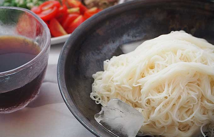 夏に嬉しい18秒で茹で上がる素麺「ゆきやぎ」