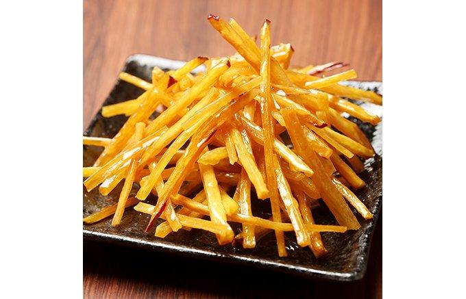 さつま芋菓子専門店「吉芋」の「花火」は、細い芋と蜜と固さが絶妙の芋けんぴ