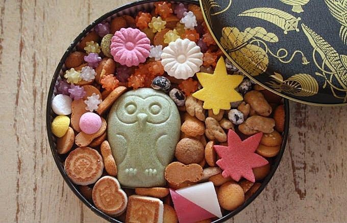 自分用の贈り物にしたくなるお菓子、菊廼舎の「冨貴寄の秋色缶」