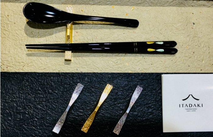 歯ブラシ用金型技術から生まれた!富士山を模したカトラリーレスト「ITADAKI」