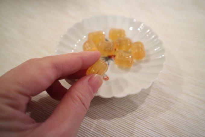 のどにやさしい、自然の食材だけで作られた手作りの京都の飴「陳皮の飴」