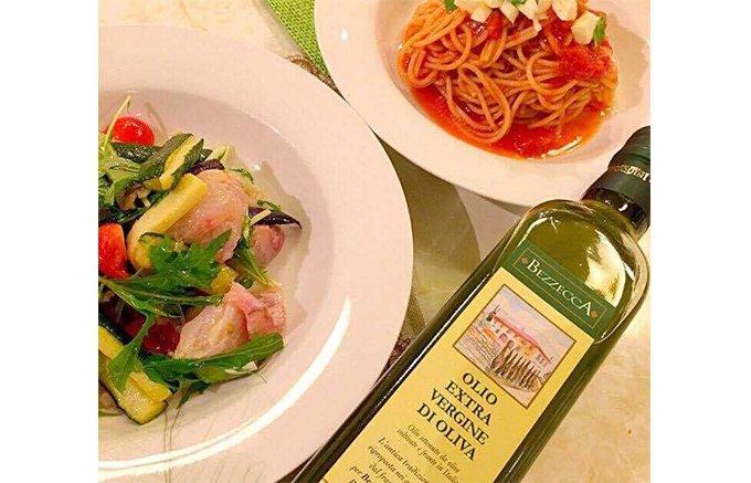 イタリア産ではなく、トスカーナ産「Bezzecca(ベゼッカ)」のオリーブオイル