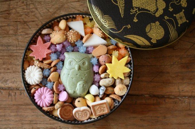 今年も「福老」が到来!手詰めされたお菓子、銀座菊廼舎「冨貴寄ふくろう」