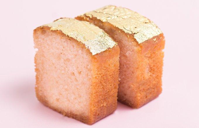 さくら、ふわり香る「箔座」の春限定・黄金の焼菓子