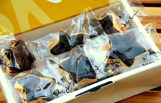 最中とラスクの融合とチョコレート&星型の、函館「モナスク 五稜郭」
