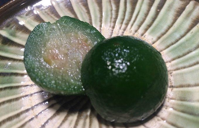 まるで和菓子!大分のかぼすがまるごと甘露煮になった「山のまりも」