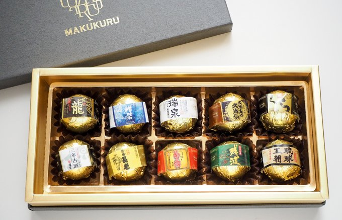 """六百年の歴史ある日本最古の蒸留酒""""沖縄の古酒泡盛""""を使用した大人のショコラ"""