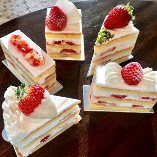 苺ショートケーキ5種類食べ比べ!グランド ハイアット 東京のテイスティングセット