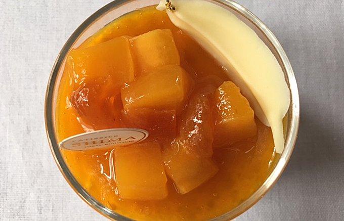 マンゴーとアプリコットの水玉模様がかわいい夏のデザート!「ブランマンジェ・デテ」