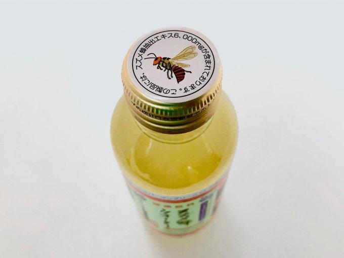 蜂エキスが入ったパワードリンク「スズメ蜂ウォーター」