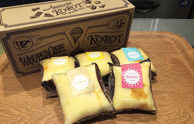 モチモチ食感!見た目も可愛い「Korot(コロット)」のラップドクレープ