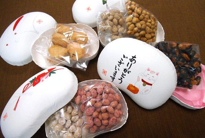 愛らしいまめやのちょこ豆。季節の豆箱。
