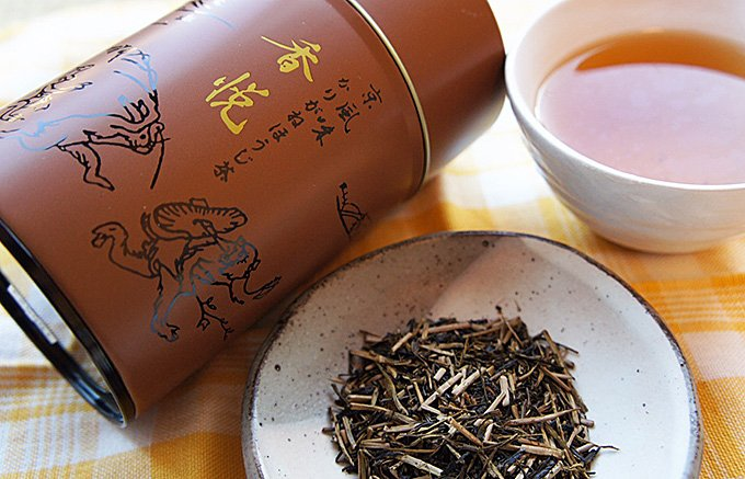 鳥獣戯画の缶もかわいい 香りも楽しみたい京都のほうじ茶「香悦」