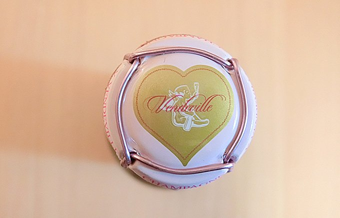バレンタインデーに贈りたい!ハートのラベルのシャンパーニュ