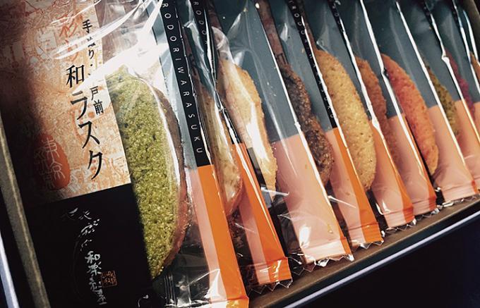 日本の素材をカラフルなラスクに焼きあげた、優しい和スイーツ。