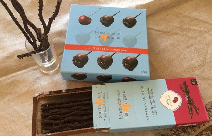 ワイン産地フランスマルゴーならでは!ぶどうの小枝をイメージしたチョコレート