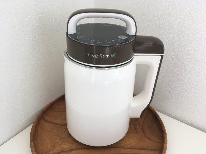 豆乳製造機で、18分で自家製豆乳。
