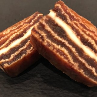 意外な組み合わせで超絶美味しい!バターが香る、西条柿ミルフィーユ