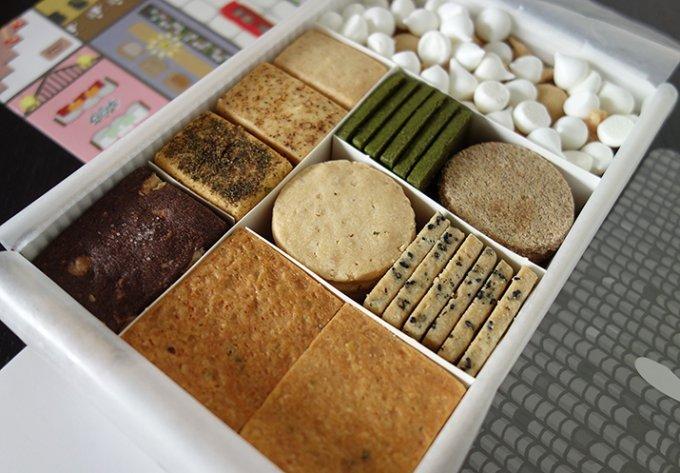 七味、お抹茶など、創作フレンチ「レストランよねむら」の手作りクッキー