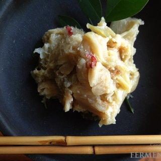 白菜の古漬け、酒粕、魚のあらでつくる発酵料理。宮城県気仙沼の郷土料理「あざら」