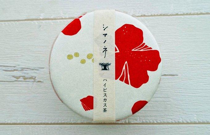 """キュートなパッケージはお土産やプチギフトにおすすめ!""""シマノネ""""のお茶入り缶"""