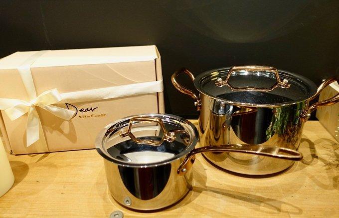 贈り物に!ローズゴールドを基調とした軽くてコンパクトな鍋「ビタクラフト ディア」