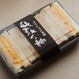 大阪ミナミ、夜食の定番!洋食屋の名物「玉子サンド」
