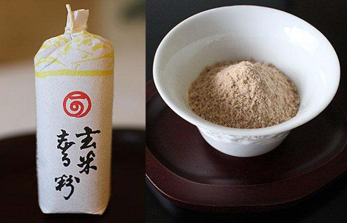 寒い日に癒される玄米の香り豊かな珍しいお汁粉